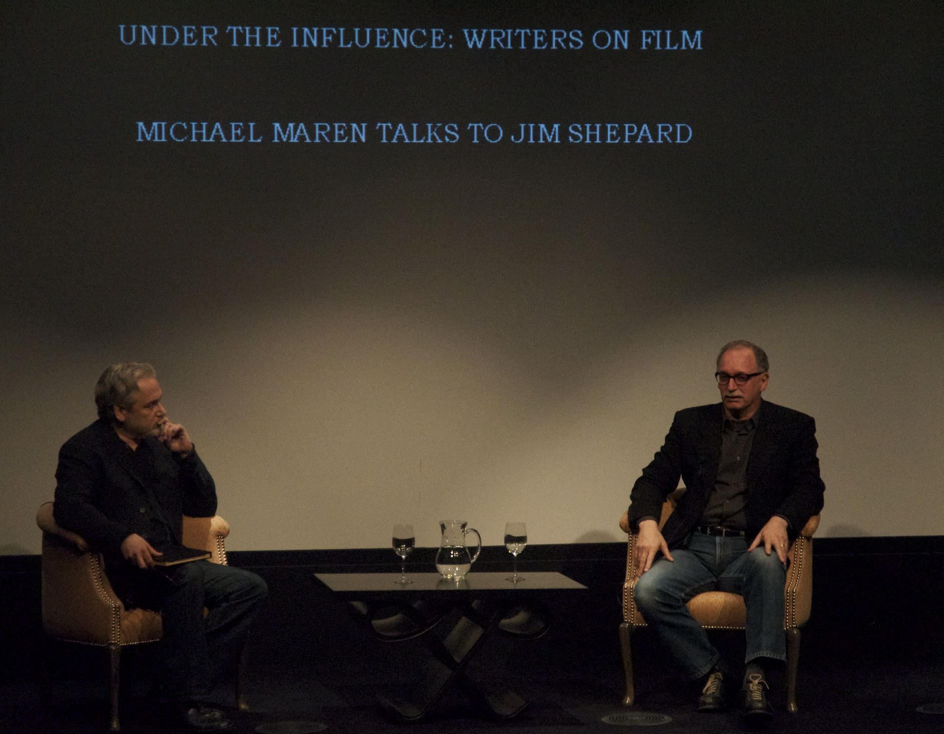 "Me yapping with Jim Shepard about Werner Herzog's ""Aguirre, the Wrath of God"" last night. - Version 2"